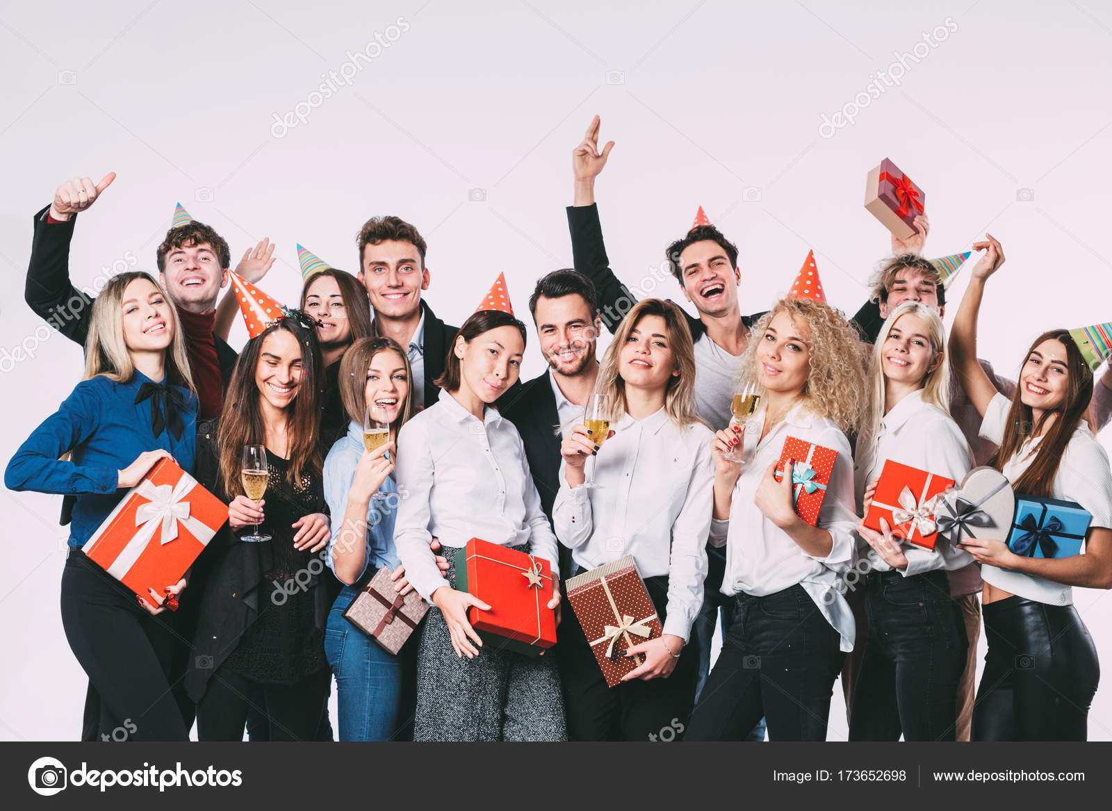 Office christmas party. — Stock Photo © PavelIvanov #173652698