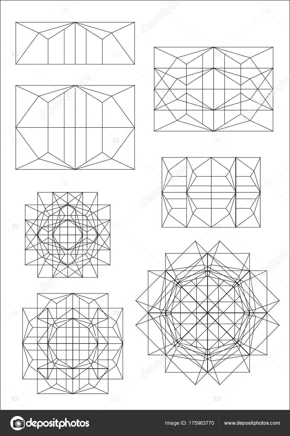 Quadrat Rechteck Rahmen Formen Spuren Design Architektur Durchführen ...