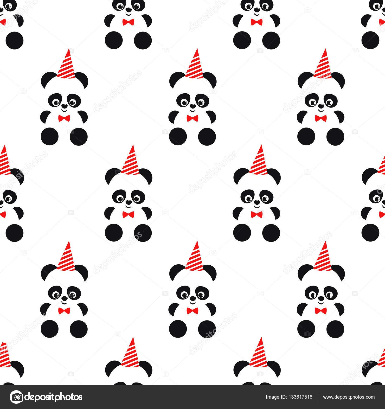 Fondo: gorros de cumpleaños sin | Lindo panda y cumpleaños gorro de ...