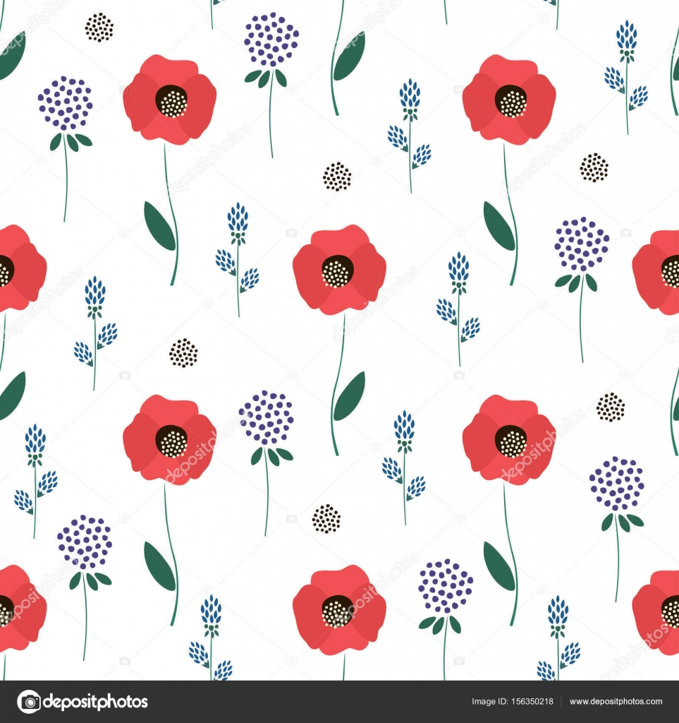 Wallpapers Girly Spring Floral Pattern On White
