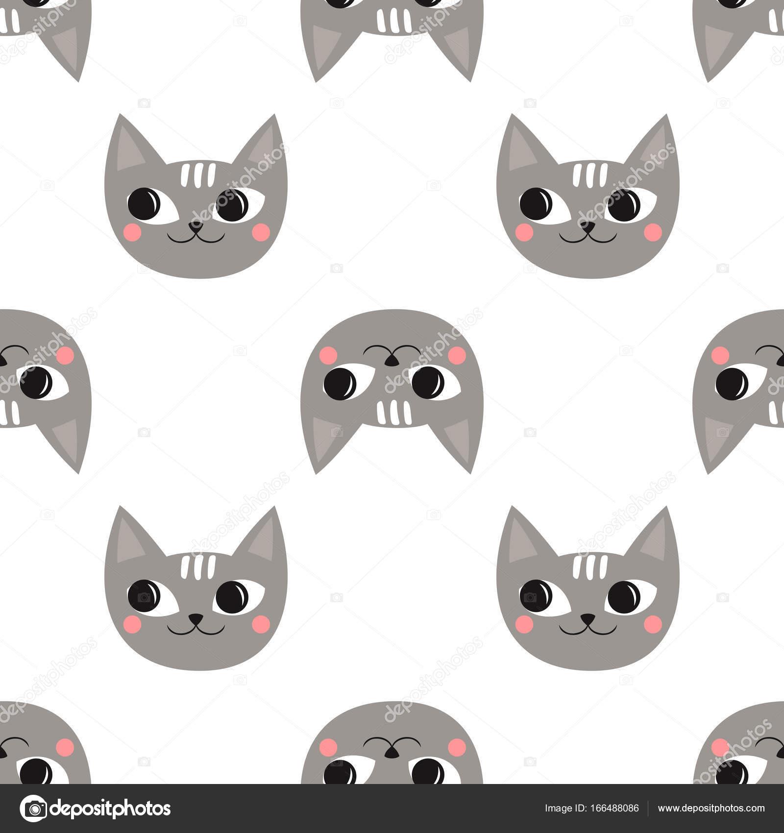 Gatos lindos patrones sin fisuras para las vacaciones de los niños ...
