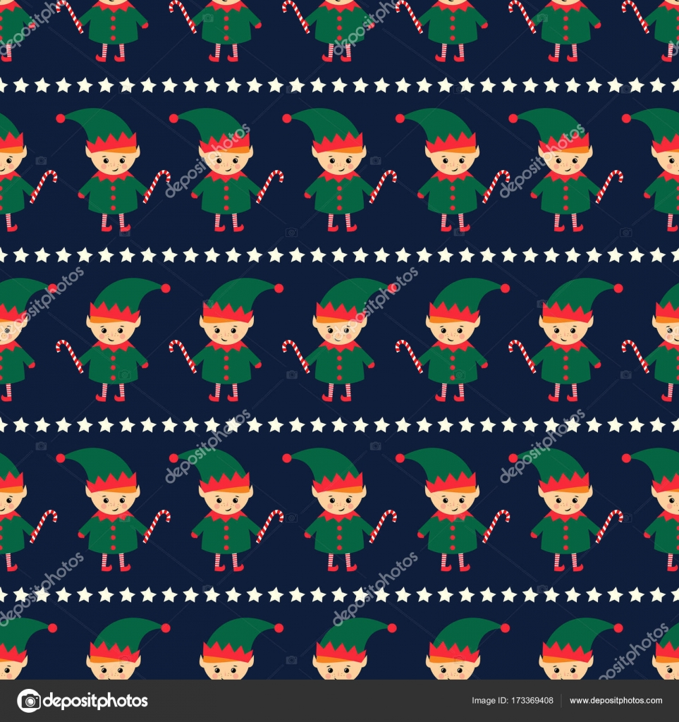 depositphotos 173369408 stock illustration christmas elf with candy cane