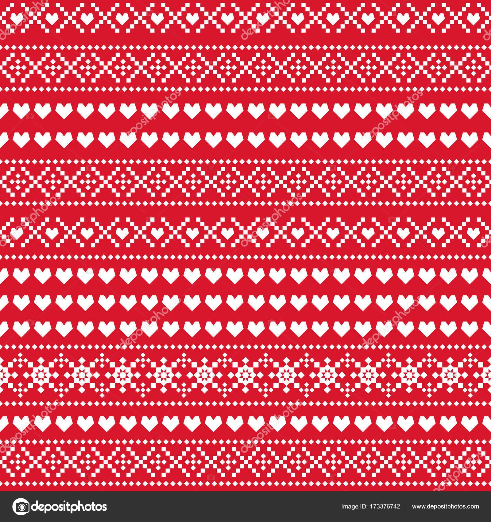 0d93151e6cea Seamless Christmas pattern. Scandinavian sweater style. — Stock Vector