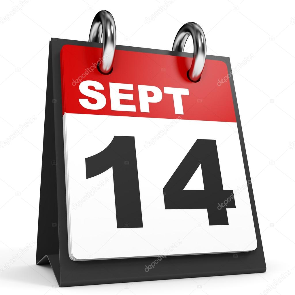September 14. Calendar on white background. — Stock Photo © iCreative3D #126518088