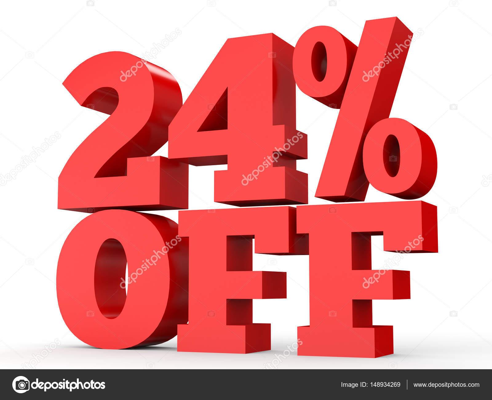Twenty Four Percent Off Discount 24 Stockfoto Icreative3d