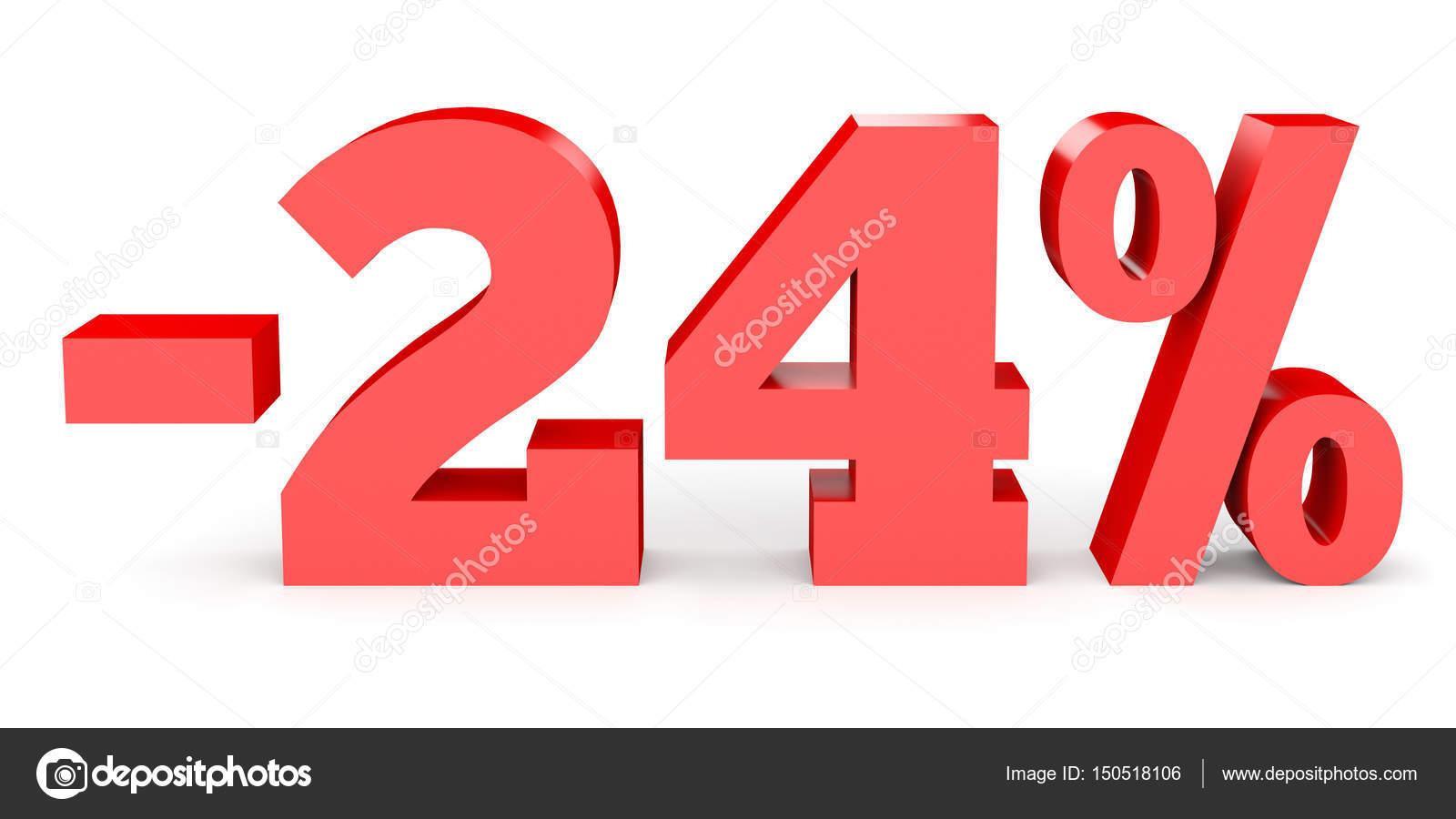 Minus Twenty Four Percent Discount 24 Stockfoto Icreative3d