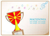 Trófea kupa logó készült Macedónia zászlaja
