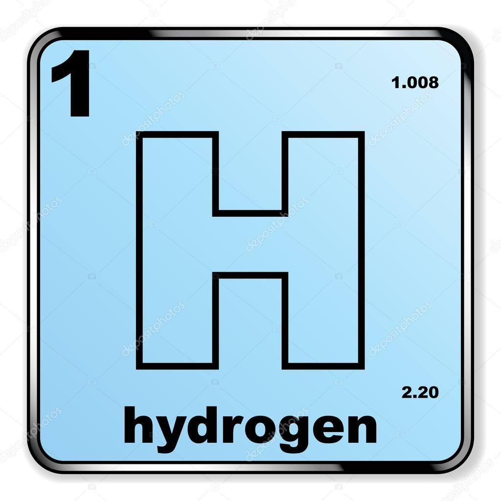 Hidrgeno a partir de la tabla peridica archivo imgenes hidrgeno tomado de la tabla peridica de los elementos sobre un fondo blanco vector de bigalbaloo urtaz Images