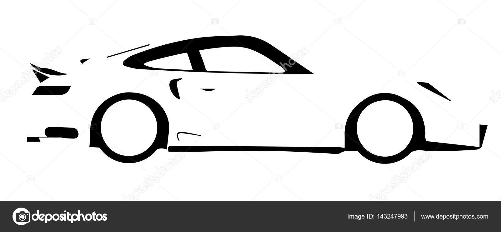 fast car outline stock vector bigalbaloo 143247993 rh depositphotos com car outline logo vector car outline vector art