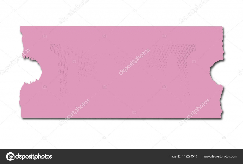 blank pink ticket stock vector bigalbaloo 149274540
