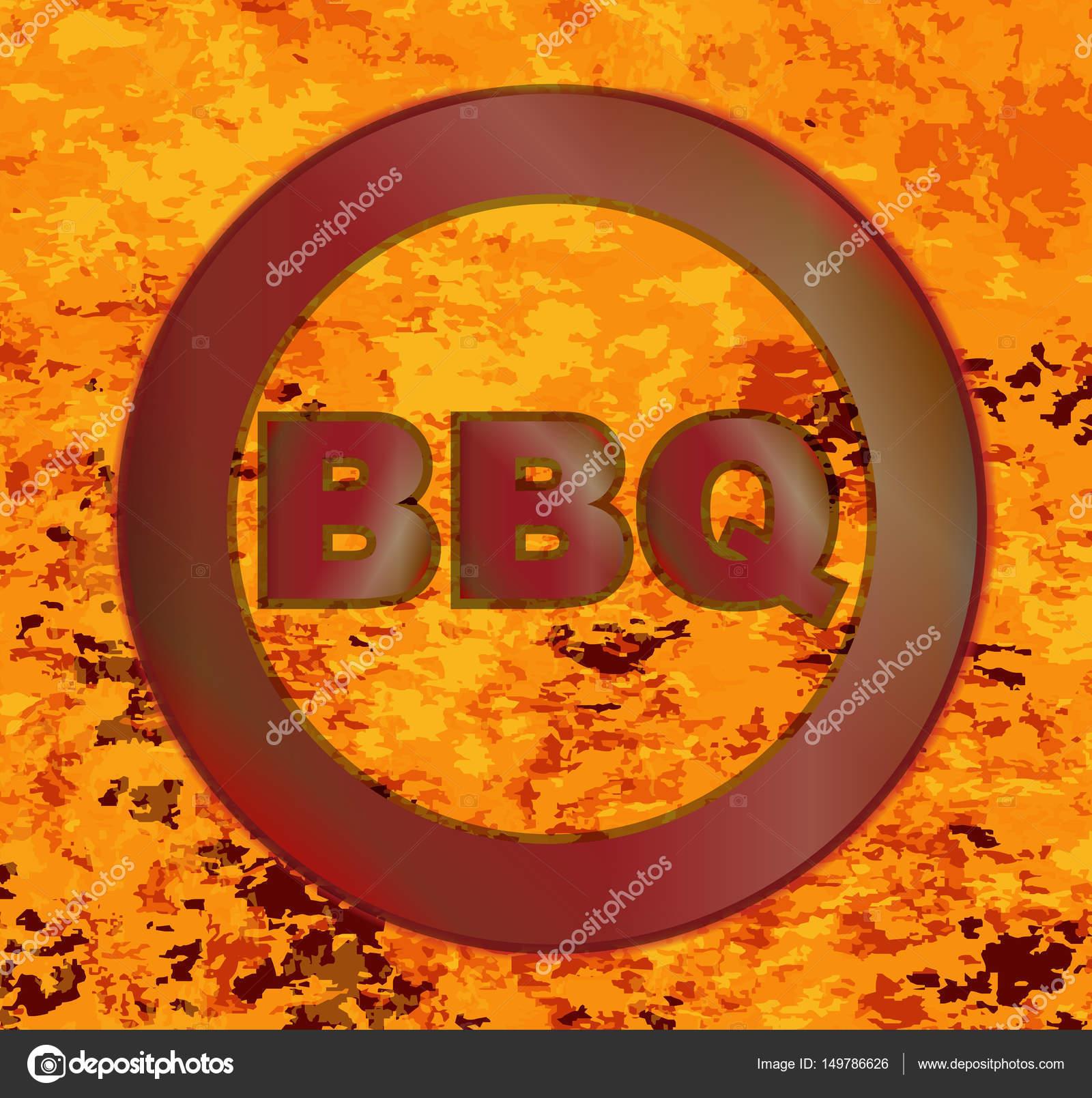 Inferno Em Chamas Classy ferro em brasa churrasco quente vermelho — vetores de stock