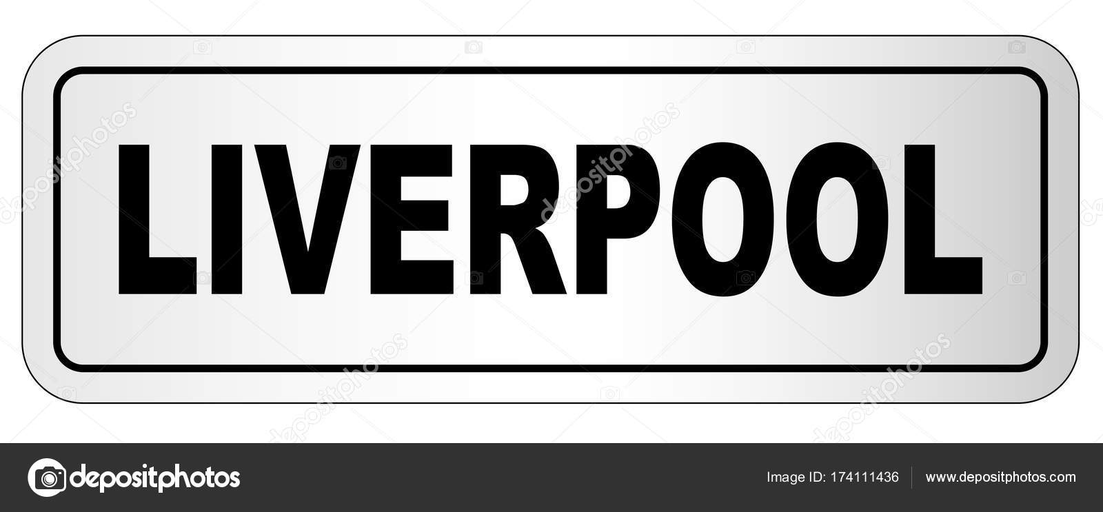 Liverpool City Nameplate — Stock Vector © BigAlBaloo #174111436