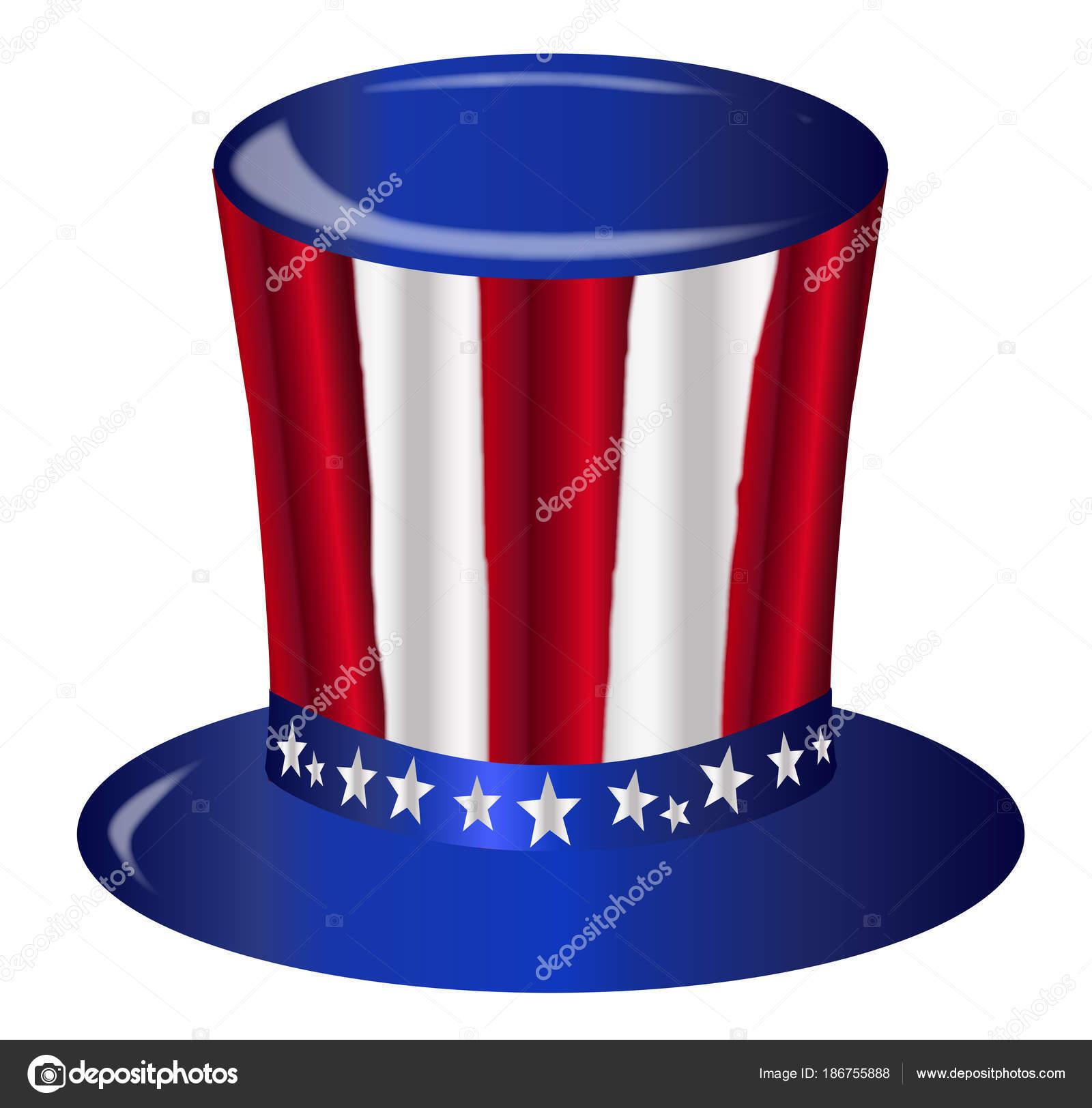 Uncle Sam-Flagge-Hut — Stockvektor © BigAlBaloo #186755888