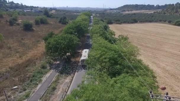 Aerial shot of school bus