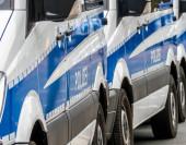 Deutsche Polizeiautos auf der Straße