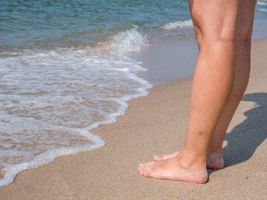 barefoot on Sylt background