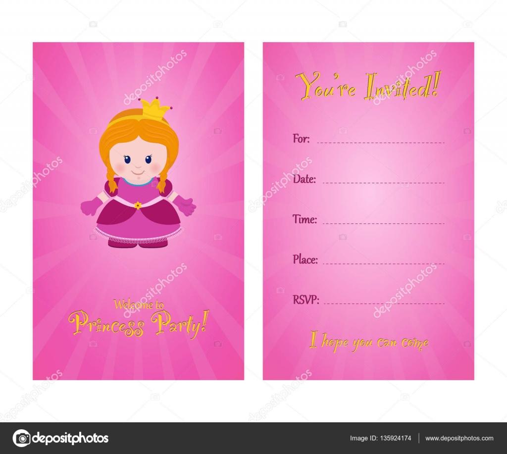 Invitación Para Fiesta Infantil Vector De Stock Alefbet