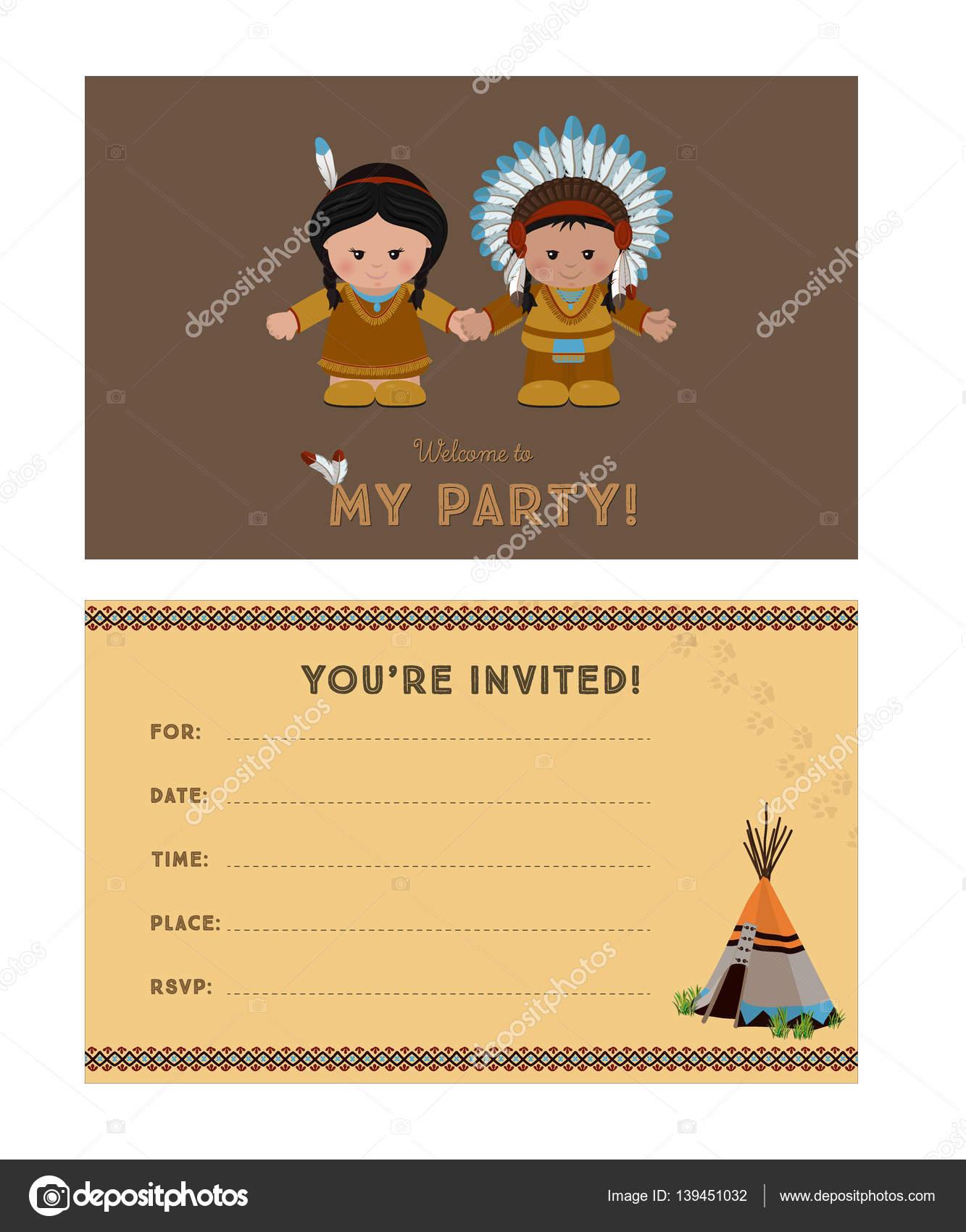 открытка приглашение с индейцами бабушки нередко спасались