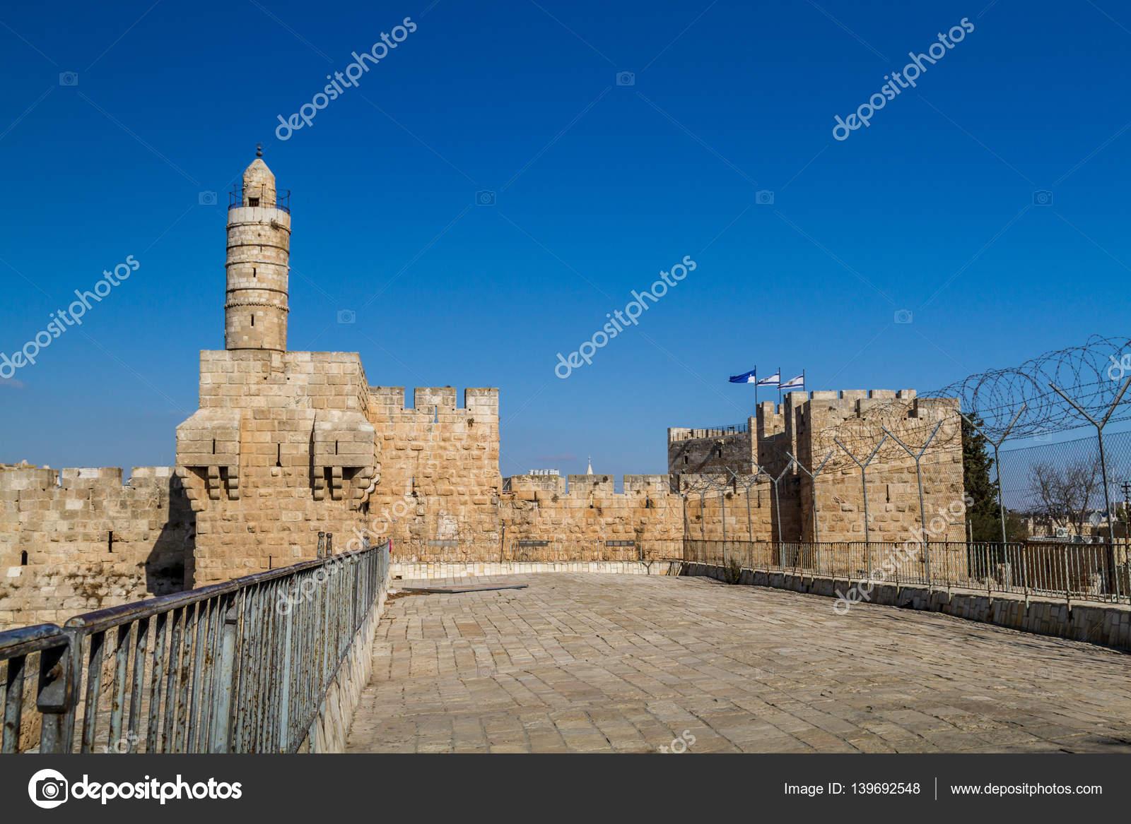 ダビデの塔エルサレムの城塞 — ...