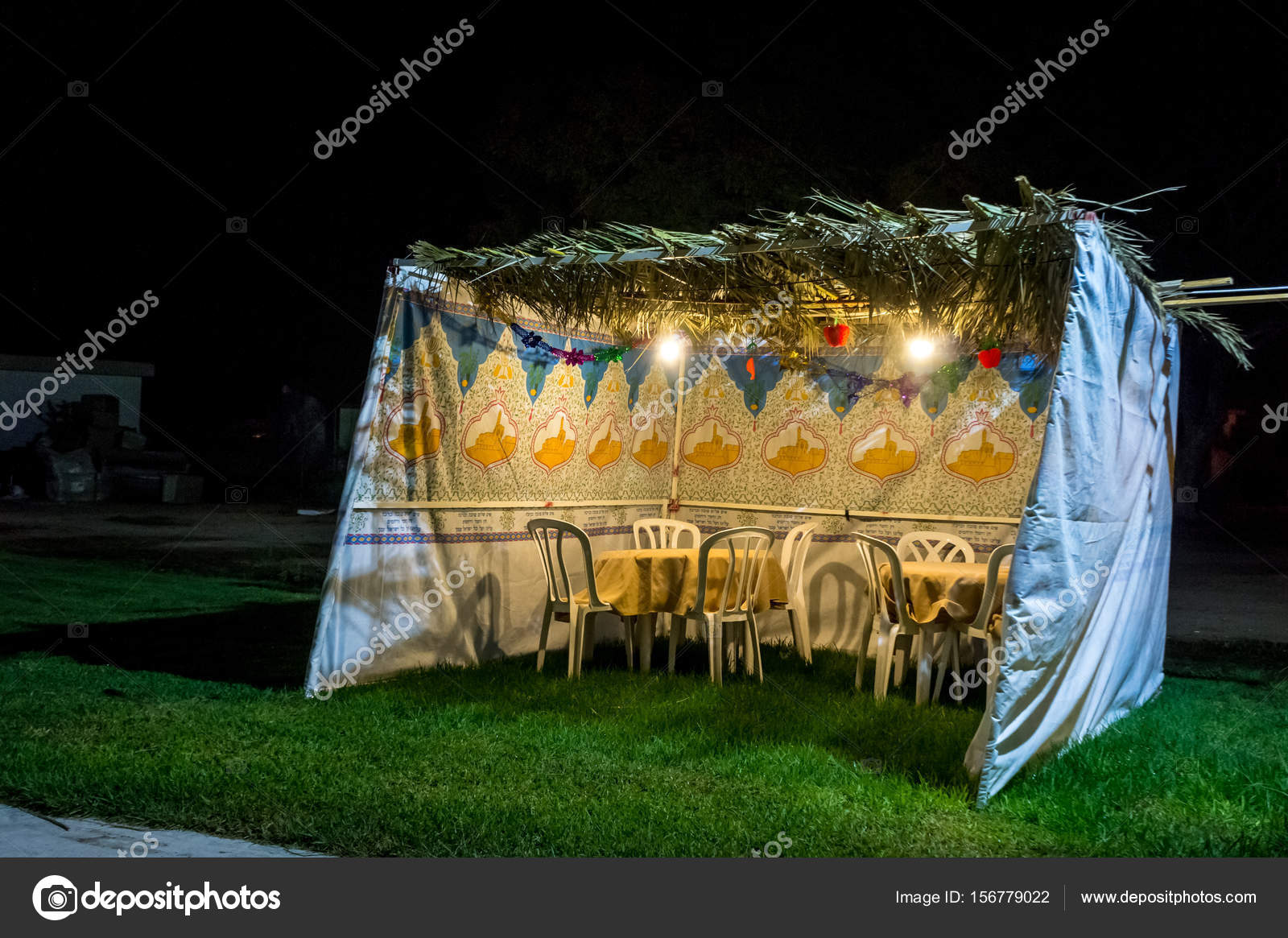 Sukkah - symbolic temporary hut for celebration of Jewish Holiday Sukkot u2014 Stock Photo & Sukkah - symbolic temporary hut for celebration of Jewish Holiday ...