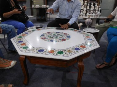 Marble workshop in Agra