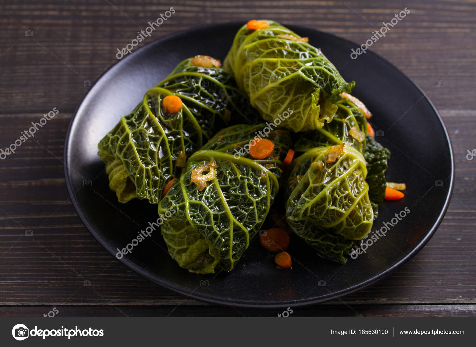 Savoy Cabbage Rolls Meat Rice Vegetables Stuffed Savoy Cabbage Leaves Stock Photo C Skylinefree 185630100