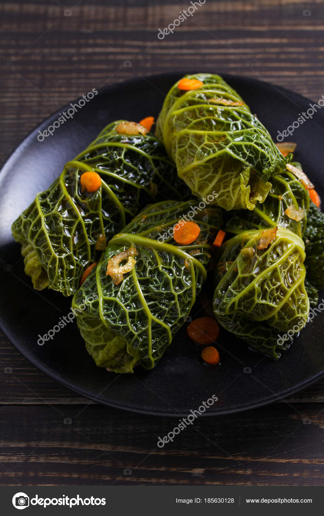 Savoy Cabbage Rolls Meat Rice Vegetables Stuffed Savoy Cabbage Leaves Stock Photo C Skylinefree 185630128