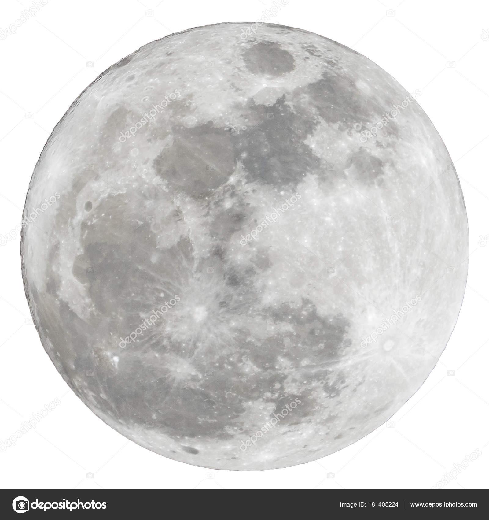 Luna en fondo blanco