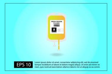 Fresh Frozen Plasma for transfusion vector icon icon