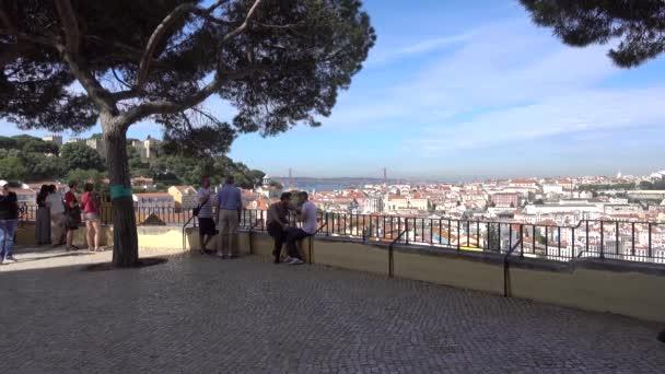 Lisbon, Portugal  The view of the city from Miradouro Sophia de Mello Breyner Andresen. Lisbon, Portugal, May 2017.