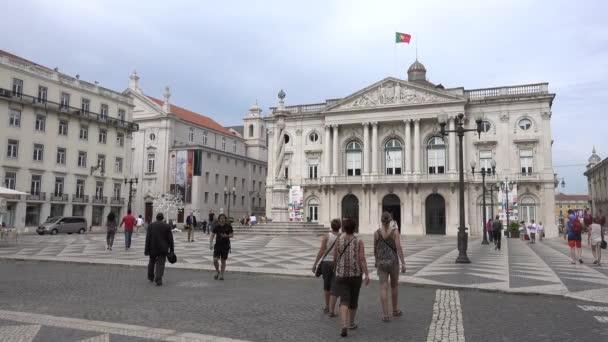 Lisszabon, Portugália, Főtér, Lisszabon városháza. Lisszabon, Portugália, 2017. május.
