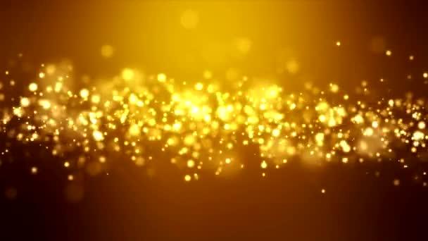 Video animace - vánoční zlaté světlo