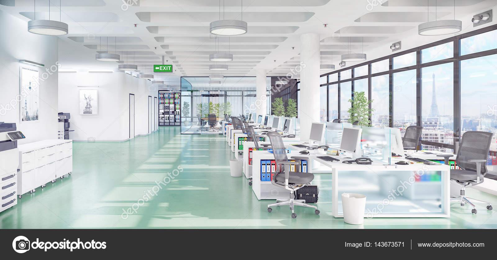 Immeuble de bureaux 3d render bureau ouverte u2014 photographie marog