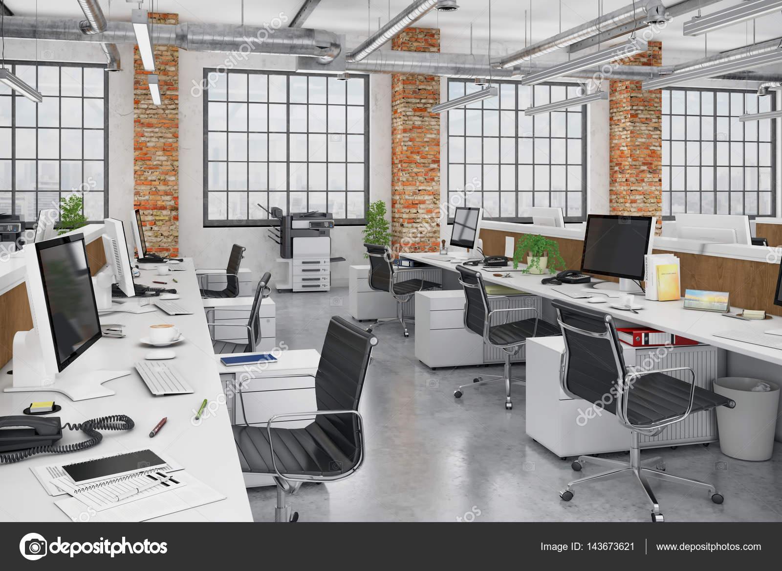 Immeuble de bureaux d render bureau ouverte u photographie
