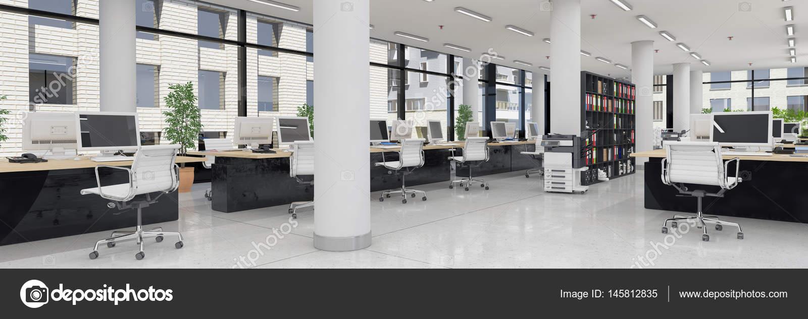Oficinas plantas libres render 3d panorama de oficina for Oficinas enterprise