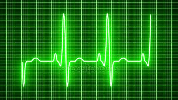 Animace - srdce tep tep zeleně - kardiologie
