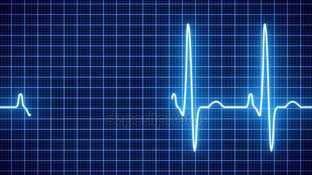 Animace - srdce tep tep modře - kardiologie