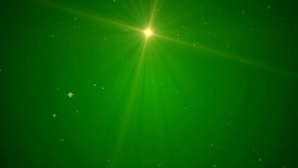 Video animierte Weihnachtsbaum auf grünem Hintergrund — Stockvideo ...