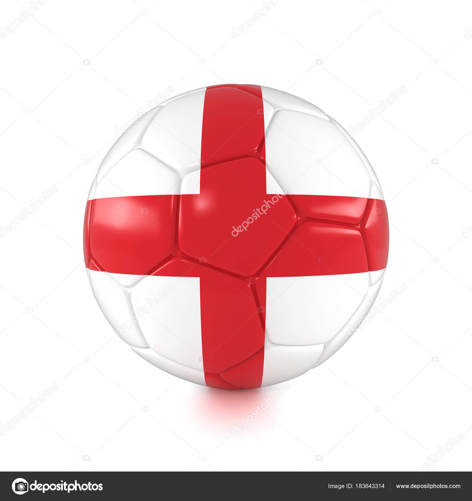 3d render russia 2018 football with england flag