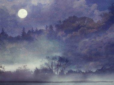 Purple Fantasy forest