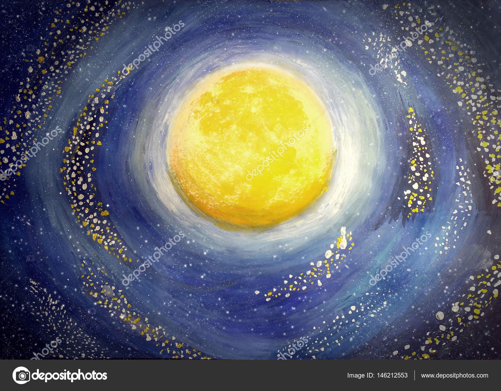 Imágenes Acuarela Cielo Nocturno Acuarela Y Gouache Ilustración
