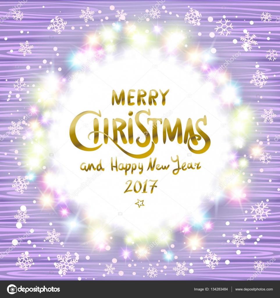 Led Frohe Weihnachten.Frohe Weihnachten Und Ein Glückliches Neues Jahr 2017 Leuchtende