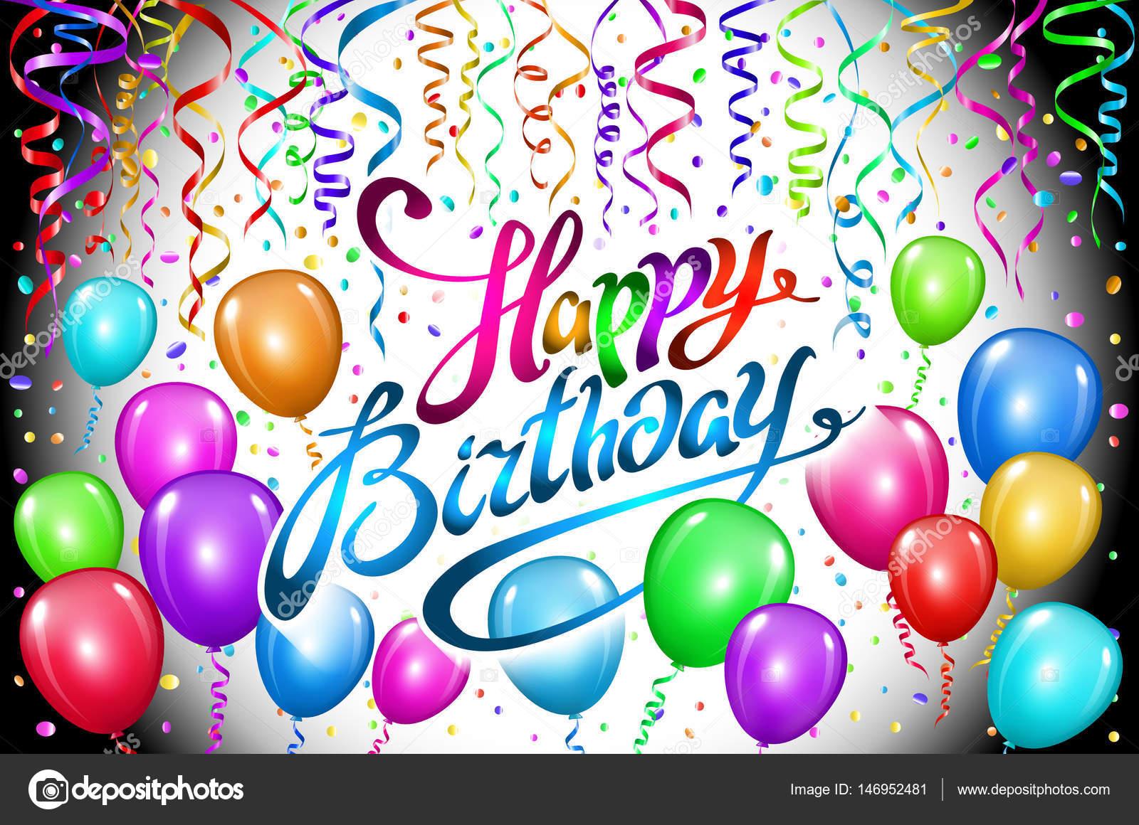 Disegno Compleanno: Disegno Di Vettore Di Buon Compleanno Tipografia Per