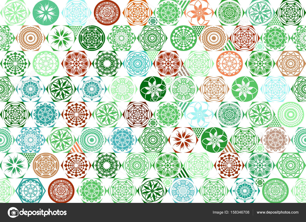Portugese Tegels Patchwork : Vector naadloze mega gorgeous naadloze patchwork patroon van