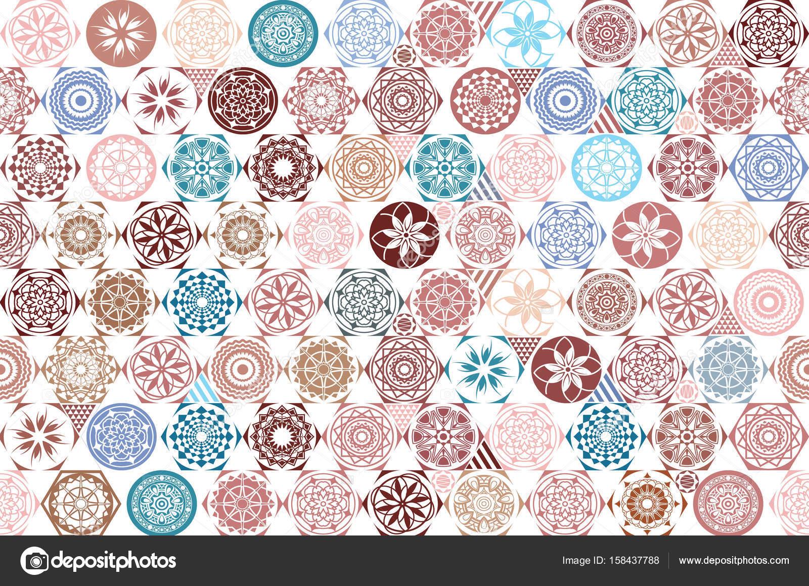 Baldosa cerámica transparente con patchwork de colores. Patrón ...