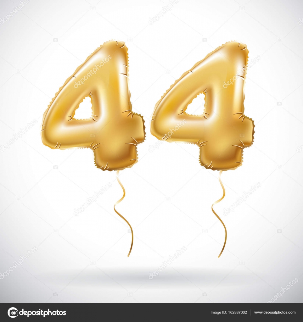 Vector golden 44 number forty four metallic balloon party vector golden 44 number forty four metallic balloon party decoration golden balloons anniversary biocorpaavc Gallery