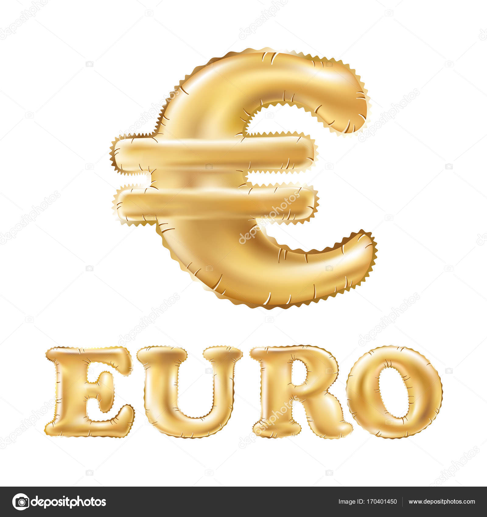 Vector gold euro symbol alphabet balloons money and currency vector gold euro symbol alphabet balloons money and currency golden number and letter balloon buycottarizona Choice Image