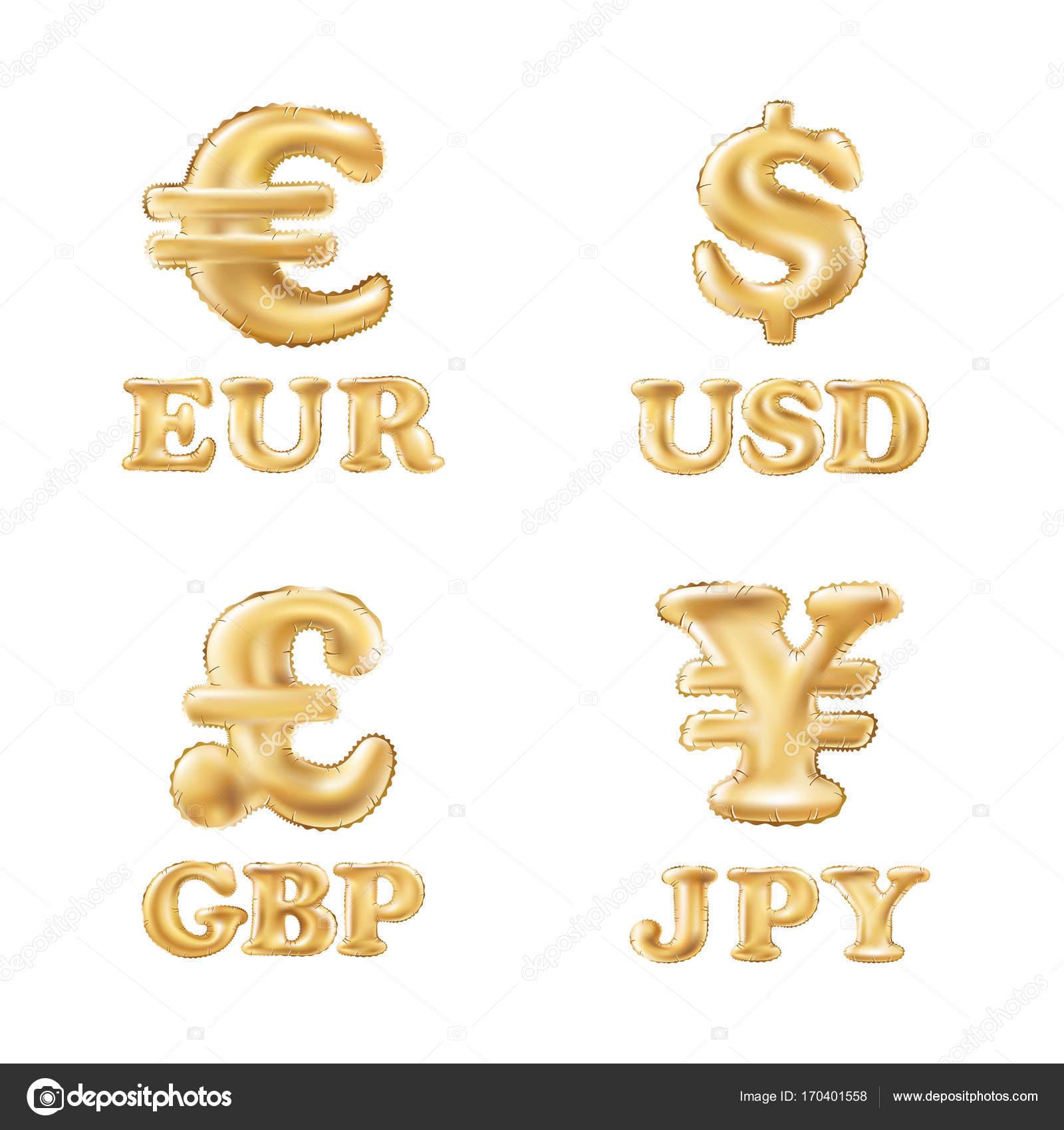 Vecteur Des Icones De Monnaie Dollar Euro Livre Et Yen