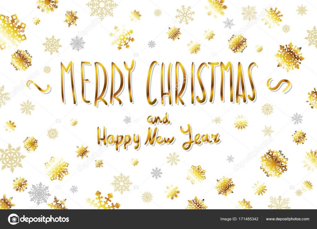 Vektor Gold Frohe Weihnachten Und Frohes Neues Jahr Kardinal