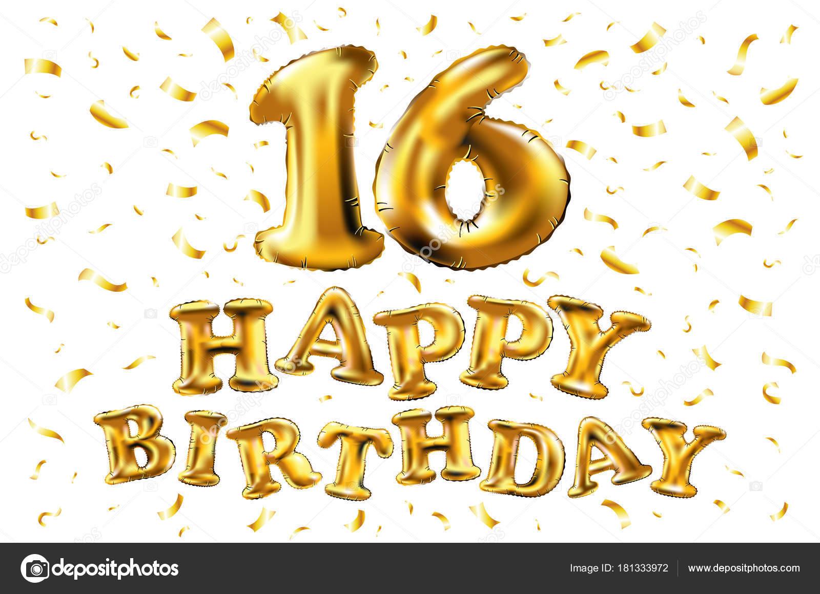 Gelukkige Verjaardag 16 Jaar Verjaardag Vreugde Viering 3d